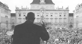 Charles de Gaulle redet im Ludwigsburger Schloss (1962)