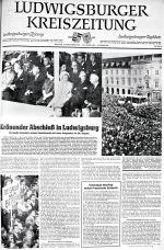 Zeitungsartikel in der Ludwigsburger Kreiszeitung vom 10. September 1962